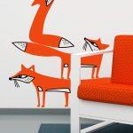 vulpi-autocolant-de-perete-foxes-wall-sticker-detail