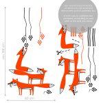 vulpi-autocolant-de-perete-foxes-wall-sticker-dimensions