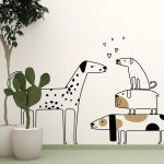 catei-amorezati-autocolant-decorativ-de-perete-love-dogs-wall-sticker-1