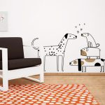 catei-amorezati-autocolant-decorativ-de-perete-love-dogs-wall-sticker-2