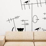 pisica-neagra-la-panda-autocolant-decorativ-de-perete-black-cat-hunting-wall-sticker-2