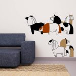 ponei-autocolant-decorativ-de-perete-pony-wall-sticker-1